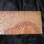 "wood-burning on salvaged wood. size: 5""x2.5"""